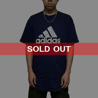 【USED】90'S ADIDAS 3-STRIPES LOGO T-SHIRT NAVY