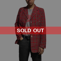 【USED】TARTAN 3B JACKET WITH PINS