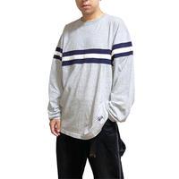 【USED】90'S STUSSY BORDER LINE L/S T-SHIRT