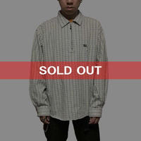 【USED】90'S VANS PULL-OVER CHECK SHIRT