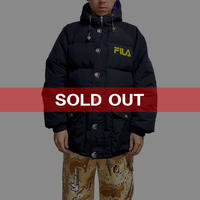 【USED】90'S  FILA HOODED DOWN JACKET