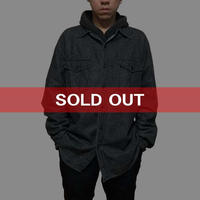 【USED】POLO JEANS OVERSIZED DENIM SHIRT BLACK