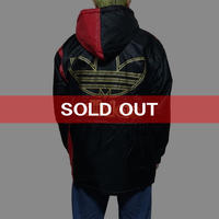 【UESD】80'S-90'S ADIDAS OLD SCHOOL BOMBER BLOUSON BLACK × RED