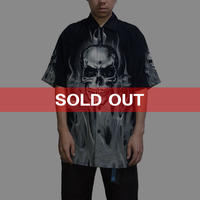 【USED】90'S DRAGONFLY SKULL × FIRE SHIRT