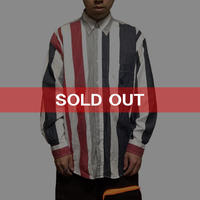 【USED】90'S NAUTICA MULTI STRIPE SHIRT