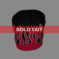 【USED】FIRE KNIT BEANIE