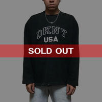 【USED】90'S DKNY USA SWEATSHIRT BK