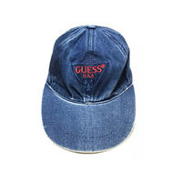 【USED】90'S BOOTLEG GUESS DENIM CAP