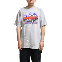 【USED】00'S FIRE & AMERICAN CAR T-SHIRT