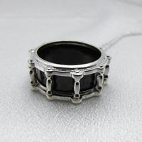 【受注制作】ドラム・ペンダント−ブラックシェル