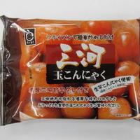 三河玉こんにゃく 濃厚たれ付                        (お子様も大好きな醤油味噌味です。簡単3分調理です!)     規格:130g 1袋