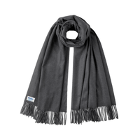 Smuggling cashmere Big Stole / Charcoal gray