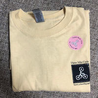 Three mile cycle /  Members Tee  / yellow