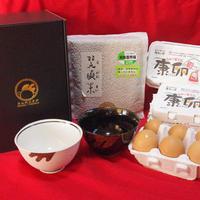 【きんのとさかセット】康卵18個、茶碗2個、白米or玄米1kg
