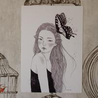 Talltreeさん「夜空少女」イラストカード全9種