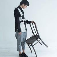 Black and Beige Composition Patchwork Shirt.(Ladies' SIZE:1)