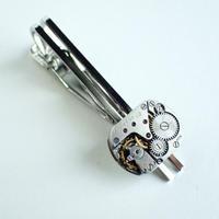 古時計の心臓ネクタイピン #002