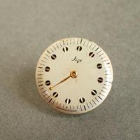 古時計の文字盤ピンバッジ #002