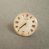 古時計の文字盤ピンバッジ #001
