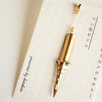 古いペン先ピアス #09