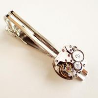 古時計の心臓ネクタイピン #001