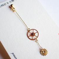 古時計の欠片ピアスB #005