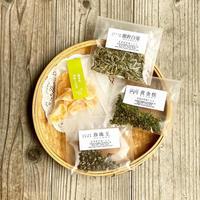 涼やかな冷茶セット茶3種(ドライフルーツ付き)