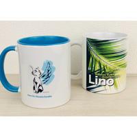 【マグカップ2点セット】Lino(1個)&羽ねこ(1個)