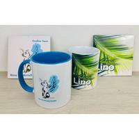 【マグカップ & CD 4点セット】Linoカップ(1個)&羽ねこカップ(1個) ・ LinoCD(1枚)&羽ねこCD(1枚)