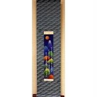 富士ー時空(複製)軸装(青系)横151×縦620mm