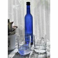 いろは・ひふみ曼荼羅グラスセット Mサイズ 口径70㎜高さ83㎜容量200cc (グラスはフランス製)化粧箱入り