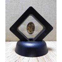 宇宙意思との共鳴「地球の石(意思)」黒Ⅰ フレーム:一辺5㎝厚さ1.8㎝ 高さ6.5㎝