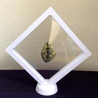 宇宙意思との共鳴「地球の石(意思)いろは&サムハラ1」白フレーム(一辺 14㎝  厚さ2㎝  高さ20㎝)