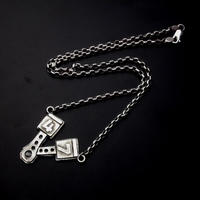 47 RACING PISTON SILVER NECKLACE