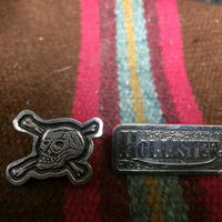 HMC 30s SKULL & LOGO SILVER BADGE SET