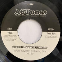 "Georgia Anne Muldrow ‎/ More & More (Remix) (7"")"