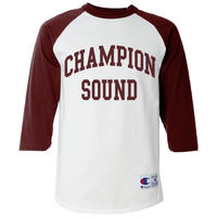 """CHAMPION SOUND"" RAGLAN BASEBALL TEE BURGUNDY"