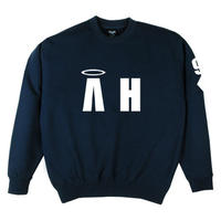 """A-HIGH"" CREWNECK SWEATSHIRT NAVY"