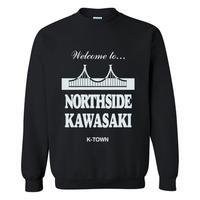 """""""NORTHSIDE KAWASAKI"""" CREWNECK SWEATSHIRT BLACK"""