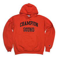 """CHAMPION SOUND"" PULLOVER HOODIE ORANGE"