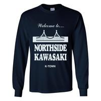 """""""NORTHSIDE KAWASAKI"""" L/S TEE NAVY"""