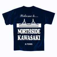 """【再入荷】""""NORTHSIDE KAWASAKI"""" S/S TEE NAVY"""