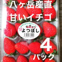 八ヶ岳(長野県)産  いちご約270g   x 4パック/箱