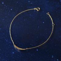 【anq.】K10・ダイヤモンド ブレスレット 「Crescent Moon」
