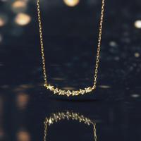 【anq.先行予約】K18YG・0.04ctダイヤモンドネックレス「  Lumiere」