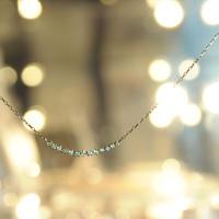 【anq.】K18・ダイヤモンド0.09ct アーチネックレス