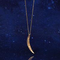 【anq.】K10・ダイヤモンドネックレス 「Crescent Moon 」