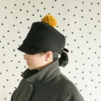 ◇送料無料◇PomPom Wool cap レディース Women【 ブラック Black 】