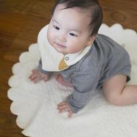 パイルケット【オーガニック】 スカラップ刺繍