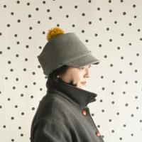 ◇送料無料◇PomPom Wool cap レディース Women【 グレー Gray 】